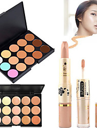 cheap -15 Colors Concealer Cream Concealer / Contour Dry / Wet / Combination Breathable / Whitening / Fast Dry Body / Face Makeup Cosmetic