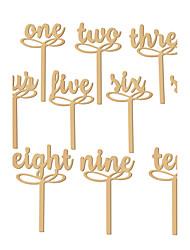 Недорогие -Материал Дерево Таблица Центр шт - Не персонализированные Держатели для табличек Прочее Столы 10 Весна Лето Осень Зима Все сезоны