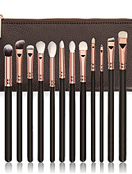 cheap -Professional Makeup Brushes Makeup Brush Set 12pcs Portable Travel Eco-friendly Professional Full Coverage Synthetic Synthetic Hair Wood Makeup Brushes for
