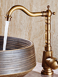 cheap -Bathroom Sink Faucet - Widespread Antique Copper Centerset Single Handle One HoleBath Taps