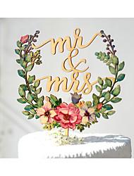 Недорогие -торт верхний сад тема цветочные тема классическая тема старинная тема классическая пара акриловые / полиэстер годовщина свадьбы с # поли мешок