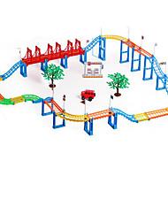 cheap -Toy Car Track Rail Car Pretend Play Car Novelty DIY Electric Plastic Kid's Boys' Toy Gift 116 pcs