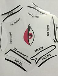 Недорогие -Шаблон для бровей Составить 6 pcs пластик Others Глаза косметический Товары для ухода за животными
