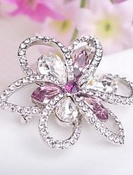 cheap -Women's Brooches Jewelry Fashion Handmade Luxury Floral Gemstone Imitation Diamond Jewelry For Wedding Party Daily Casual
