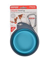 cheap -Cat Dog Bowls & Water Bottles Pet Bowls & Feeding Portable Purple Green Blue Blushing Pink