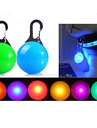cheap -Cat Dog Tag LED Lights Batteries Included Solid Colored Plastic Transparent White Orange