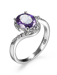 cheap -Women's Ring wrap ring AAA Cubic Zirconia Amethyst Purple Champagne Zircon Cubic Zirconia Alloy Simple Style Fashion Casual Jewelry Simulated