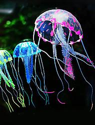 cheap -Fish Tank Aquarium Decoration Fish Bowl Jellyfish Purple Artificial Silicone 1 set