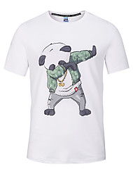 cheap -Men's Daily Sports Going out Street chic / Punk & Gothic Slim T-shirt - Graphic / Animal Print Round Neck White / Short Sleeve / Beach