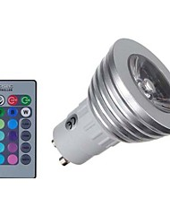 cheap -KWB 4 W LED Spotlight 400 lm E14 GU10 GU5.3(MR16) MR16 1 LED Beads COB Dimmable Remote-Controlled Decorative RGB 85-265 V / 1 pc / RoHS / CE Certified