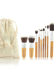 cheap -Professional Makeup Brushes Makeup Brush Set 11pcs Portable Travel Eco-friendly Professional Full Coverage Hypoallergenic Limits Bacteria Synthetic Hair / Artificial Fibre Brush Wood for Blush Brush