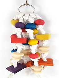 cheap -Bird Toys Wood Multi-Color