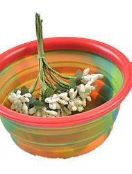 cheap -Cat Dog Bowls & Water Bottles Pet Bowls & Feeding Portable Foldable Yellow Red Green