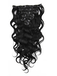 cheap -body wave clip in human hair extensions malaysian virgin remy hair weaves clip ins