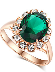 cheap -Engagement Ring Synthetic Ruby Red Blue Green Gemstone Gem Alloy Cocktail Ring European One Size / Women's