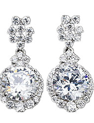 cheap -Women's Cubic Zirconia Stud Earrings Elegant Zircon Cubic Zirconia Earrings Jewelry Silver For Party Casual