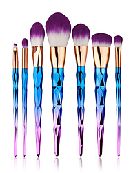 cheap -7pcs Makeup Brushes Professional Synthetic Hair Portable / Eco-friendly / Full Coverage Nylon