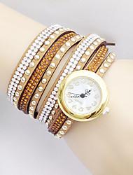 cheap -Women's Fashion Watch / Bracelet Watch Imitation Diamond Fabric Band Black / White / Blue