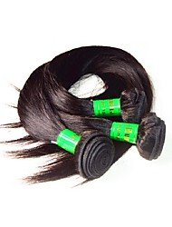 cheap -Virgin Human Hair Hair weave / Remy Weaves For Black Women / 10a Straight / Classic Indian Hair 300 g 1 Year Dailywear
