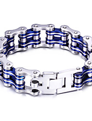 cheap -Men's Chain Bracelet Bike Personalized Fashion Stainless Steel Bracelet Jewelry Red / Blue / Black For Party Anniversary Casual Daily