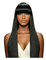 cheap -Human Hair Lace Front Wig Straight Wig 130% Natural Hairline / African American Wig / 100% Hand Tied Women's Medium Length / Long Human Hair Lace Wig