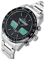 Недорогие -Мужской Спортивные часы Нарядные часы Модные часы Кварцевый Календарь Защита от влаги сплав Группа Повседневная Разноцветный