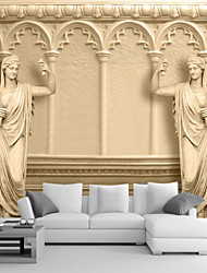 cheap -Art Deco 3D Home Decoration Classical Wall Covering, Canvas Material Adhesive required Mural, Room Wallcovering