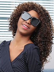cheap -Synthetic Wig Curly Curly Wig Dark Wine Synthetic Hair Women's Brown MAYSU