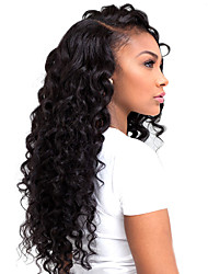 cheap -hot long curly black synthetic l part lace wigs top quality heat resistant fiber synthetic hair for women