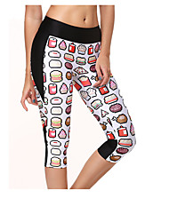 cheap -Women's Running Pants Cotton Sports Leggings Bottoms Yoga Running Exercise & Fitness Breathable Classic Printing / High Elasticity