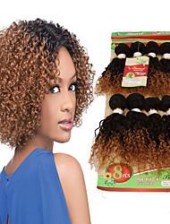 cheap -8inch 8 pcs lot brazilian deep curly virgin hair brazilian virgin hair kinky curly hair weave bundles cheap human hair