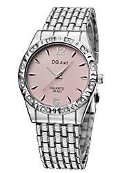 cheap -Men's Women's Couple's Fashion Watch Simulated Diamond Watch Quartz Silver / Gold Analog Silver Blue Pink