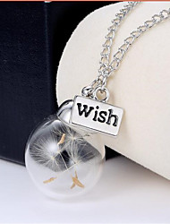 cheap -Pendant Necklace Chain Necklace Friends Dandelion Friendship Ladies Unique Design Dangling Tassel Glass White Necklace Jewelry For Party Birthday Engagement Daily Casual Sports