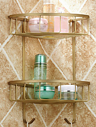cheap -Antique Brass Bathroom Shelf  2 pc - Hotel/Home bathroom shelf