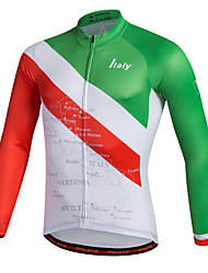cheap -Miloto Men's Long Sleeve Cycling Jersey Stripes Bike Shirt Sweatshirt Jersey Mountain Bike MTB Road Bike Cycling Breathable Quick Dry Reflective Strips Sports 100% Polyester Clothing Apparel