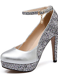 cheap -Women's Heels Spring Summer Fall Winter Club Shoes Leatherette Wedding Dress Party & Evening Stiletto Heel Sequin Black Silver Red