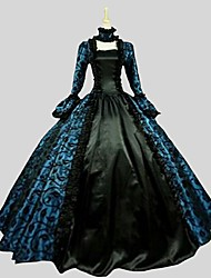 cheap -Princess Gothic Lolita Dress Women's Party Prom Japanese Cosplay Costumes Plus Size Customized Black Ball Gown Paisley Long Sleeve Ankle Length