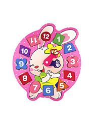 Недорогие -Ролевые игры Деревянные часы Часы обучения времени 1 pcs Часы совместимый Legoing Оригинальные Образование Мультяшная тематика Мальчики Девочки Игрушки Подарок
