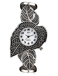 cheap -ASJ Women's Wrist Watch Japanese Quartz Titanium 30 m Water Resistant / Waterproof Shock Resistant Analog Ladies Charm Luxury Leaves Vintage - White