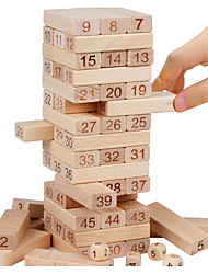 cheap -Board Game Stacking Game Stacking Tumbling Tower 51 pcs Professional Novelty Large Size Boys' Girls' Toy Gift / Wooden