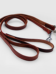 cheap -Dog Leash Adjustable / Retractable Running Solid Colored Genuine Leather Brown