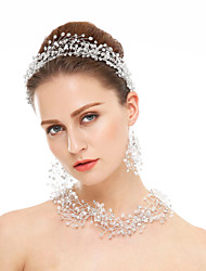 cheap -Crystal Crystal Rhinestone Earrings Jewelry White For Wedding Party Special Occasion / Hair Jewelry