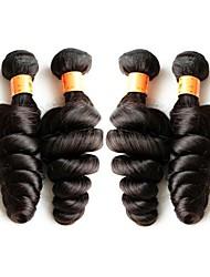Недорогие -Бразильские волосы Свободные волны Натуральные волосы 400 g Ткет человеческих волос Расширения человеческих волос / Более года