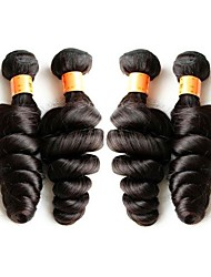 cheap -10a grade brazilian loose wave virgin hair weaves 4bundles 400g lot natural brazilian human hair black color original hair