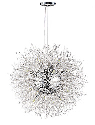 cheap -55 cm Crystal Chandelier Metal Sputnik Chrome Globe 110-120V / 220-240V