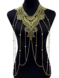 cheap -Body Jewelry Body Chain Gold Ladies / Bohemian / Fashion Lace / Alloy Costume Jewelry For Christmas Gifts / Party / Special Occasion Summer