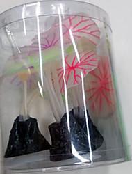 cheap -Fish Tank Aquarium Decoration Flower Mushroom Non-toxic & Tasteless Plastic 1 pc
