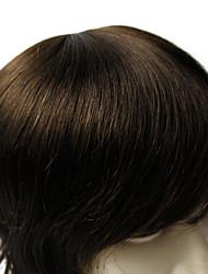Недорогие -6 * 8inch мужчины тупею хорошее качество человеческой девственной волосы прямые