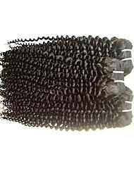Недорогие -Натуральные волосы Пряди натуральных волос Реми Кудрявый / Kinky Curly Бразильские волосы 300 g 1 год