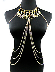 cheap -Women's Body Jewelry Body Chain Gold Ladies / Fashion Alloy Costume Jewelry For Party / Special Occasion / Anniversary Summer / Leaf